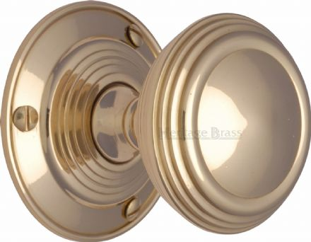 M Marcus Heritage Brass GOO986PB Goodrich Mortice Knob On Rose Polished Brass